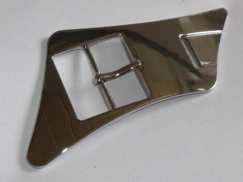 1 große Gürtelschnalle Schließe Schnalle Verschluss 4 cm silber rostfrei 0001.1