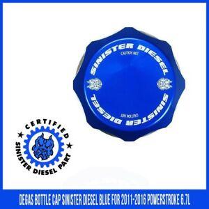 Degas-Bottle-Cap-Sinister-Diesel-Blue-for-2011-2016-Powerstroke-6-7L