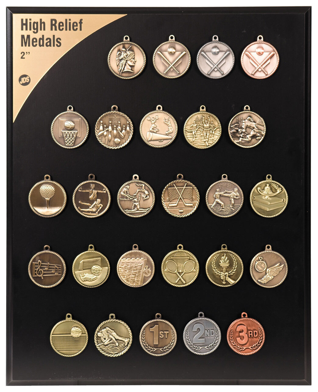 25pc lot Sports Activity Medal 2  High-Relief Medals FREE SHIPPING