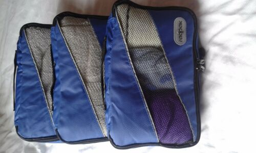 Sml Lge -Packing Organizer Cubes for Suitcases Bags/& Backpacks 3 pc Set Med