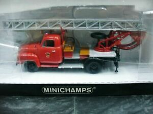 Wow extrêmement rare Opel Blitz 1.75t Aer Ladder Dl18 pompiers 1:43 Minichamps 4012138070820