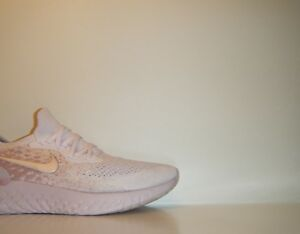 Womens 2018 Nike Epic React Flyknit Pearl Pink Rose Sz. 10.5 Trainer ... 052e6cb5331f