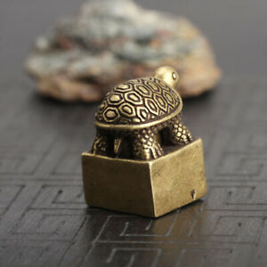 Chinese-old-Antique-Collectible-Bronze-Recruit-money-turtle-seal-statue
