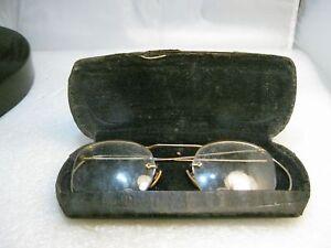 Vintage-Eye-Glasses-1920-039-s-1930-039-s-Bifocals-1-10-12kt-G-F-In-Case