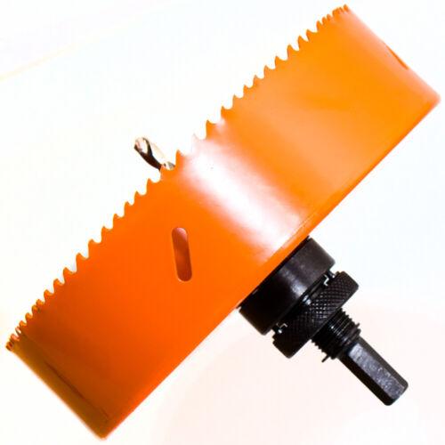 Zentrierbohrer und Adapter Lochsäge Ø 190 mm HSS BiM für Metall Holz Inox PVC