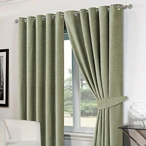 Dreamscene-Luxury-Ring-Top-Eyelet-Chenille-Lined-Thermal-Curtains-46-034-x-54-amp