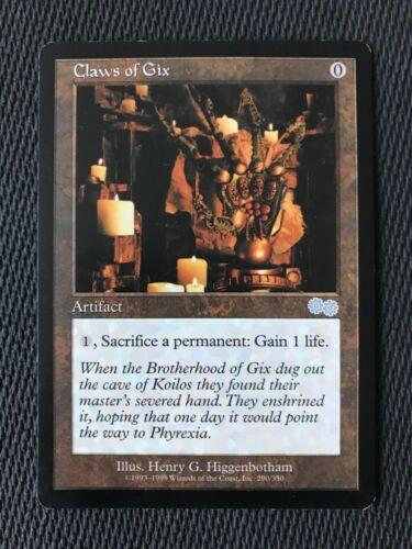 MTG Magic Claws of Gix SP//P {Urza's Saga Edition} Actual Pics
