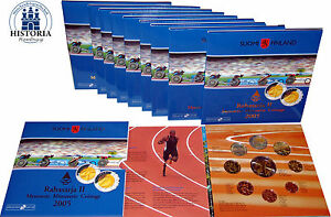 10-x-Finnland-1-Cent-bis-2-Euro-2005-KMS-mit-5-Euro-Leichtatletik-im-Folder