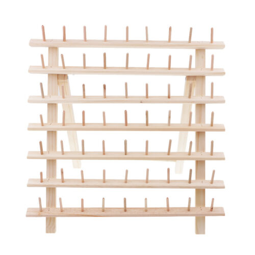 Spools Wood Sewing Thread Rack Embroidery Storage Organizer Stand Holder