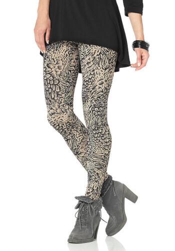 Leggings Jersey 683566 Hose Leggins Stretch Print beige