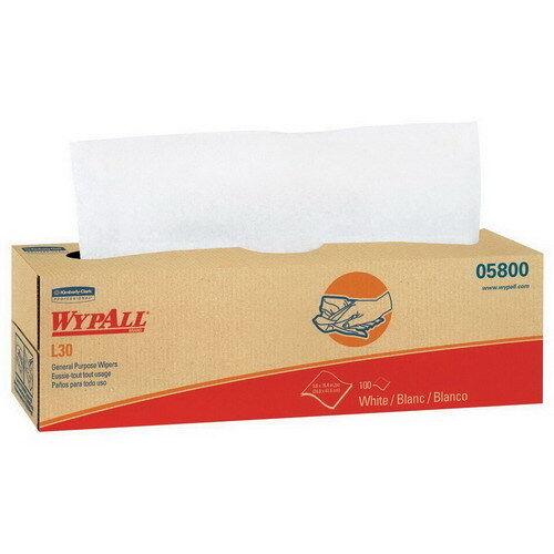 Kimberly Clark WypAllL30 Wiper White 16.4  L x 9.8  W   100 Carton 8 Carton Case