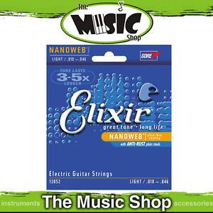 12-Sets-of-Elixir-Nanoweb-10-46-Coated-Electric-Guitar-Strings-12052-Bulk-Box