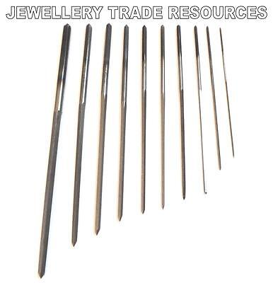 Set of 6 Cutting Broaches 0.8-2.3 mm Clock Repair Tools Parts Service 5 sided