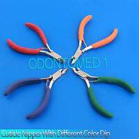 4 Cuticle Nipper With Different Color Dip Beauty Instruments