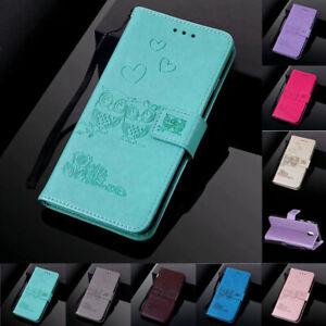 Pour-Samsung-A5-A6-A7-A8-A9-Couple-Hibou-Cuir-Flip-Stand-Carte-Portefeuille-Case-Cover