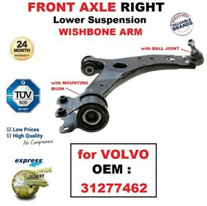 FOR VOLVO XC90 FRONT AXLE LOWER RIGHT SUSPENSION WISHBONE CONTROL ARM BUSHES NEW