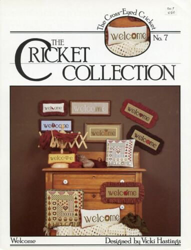 Cricket No 7  Welcome Signs Vicki Hastings Cross Stitch Pattern Leaflet