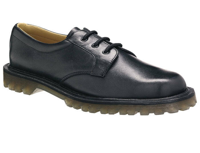 Tuffking 4222 Black Mens Gibson Air Cushion Leather Uniform shoes Docs UK 4 BNIB