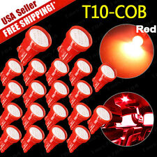20x Super Red T10 COB LED 12V Car Dome Map License Plate Interior Lights 194 192