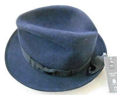Bello M&s Collezione Homburg Cappello-taglia Uk Xl-
