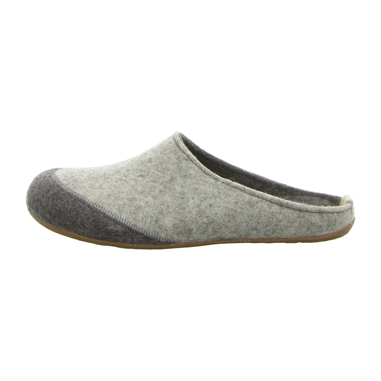 Haflinger Schuhe Hausschuh Everest Lasse 481050 84 steingraumeliert (grau) NEU