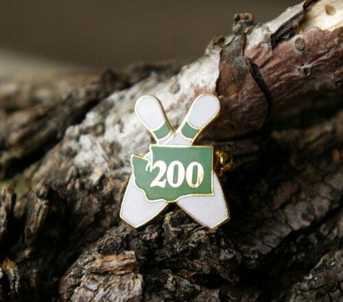 200 WA Washington State Bowling Pin Gold Tone Metal /& Enamel Lapel Pin Pinback