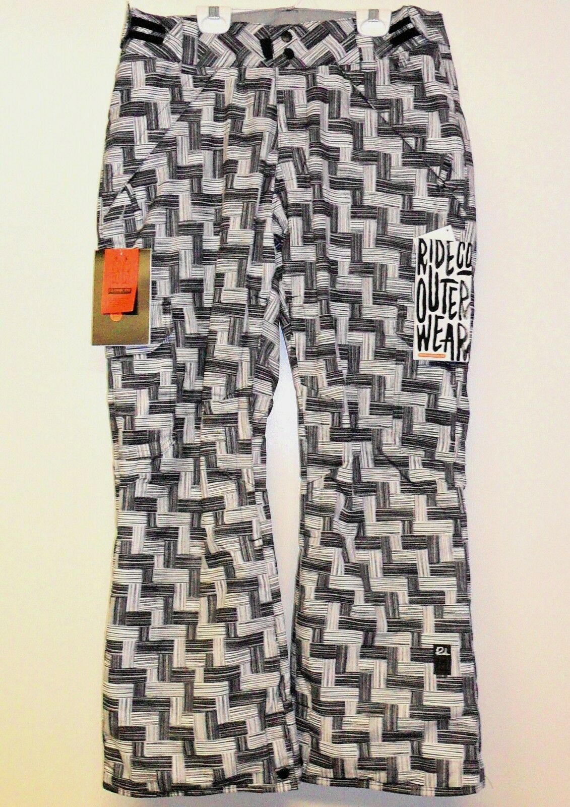 RIDE Women's HIGHLAND Insulated Pants - Blk WhtWeave - XSmall - NWT