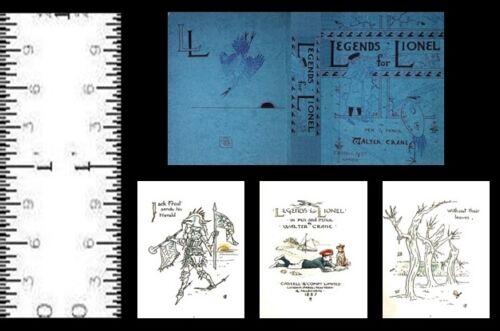 1:12 SCALE MINIATURE BOOK LEGENDS FOR LIONEL WALTER CRANE