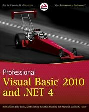 Professional Visual Basic 2010 And .Net 4 Int'L Edition