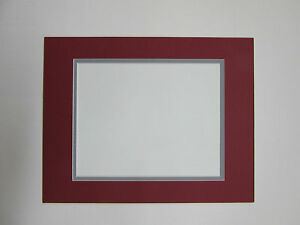 Picture Mat Red And Gray 11x14 For 8x10 Photo Ohio Colors
