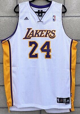 New LA Lakers Kobe Bryant #24 Jersey Mens XXL 2 Swingman Adidas NBA Authentic 883220365728   eBay