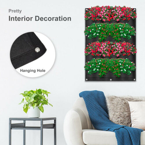 Details about  /Non-woven Cloth 36 Pockets Vertical Wall Hanging Garden Planter Bag For Flower
