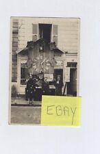 (AP/A21) Carte photo rue Grande Evreux atelier d'horlogerie bijouterie A.Robert