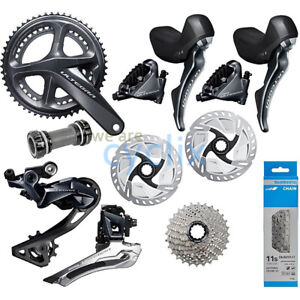 New-2019-Shimano-Ultegra-R8000-R8020-Hydraulic-Disc-Brake-Groupset-with-Rotors