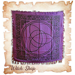"""Altar Cloth CELTIC CHARMED TRIQUETRA KNOT 36""""x36"""" Wicca Witchcraft Pagan"""
