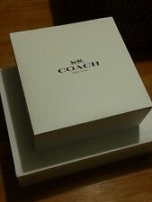 """New Authentic Coach BIG Gift Box With Coach Tissue Paper 19.5"""" x 15.5"""" x 6"""""""