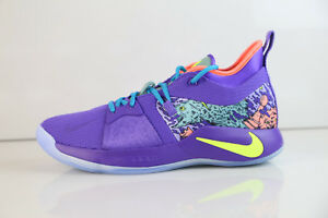 competitive price bf5b2 ce64e Details about Nike PG2 MM Mentality Cannon Volt Purple AO2986-001 9-13 air  paul george 1 2