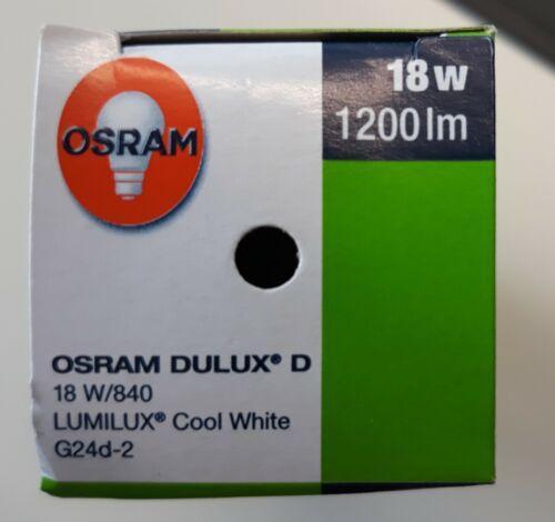Osram Kompaktleuchtstofflampe Dulux D 18W 840 G24d-2 10 St