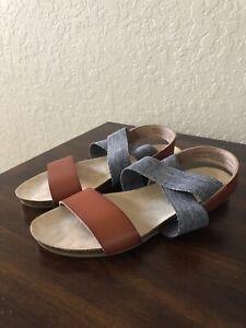 NEW Universal Thread Women/'s Kerryn Elastic Strap Footbed Slide Sandals SZ 7.5