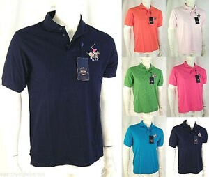 Polo-Uomo-Maglia-USA-JEANS-SPORT-Made-in-Italy-D252-Tg-S-M-L