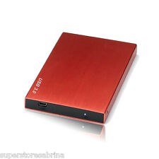 750GB External USB 3.0 Hard Disk Drive Portable Pocket fr PS3 MAC Windows Red