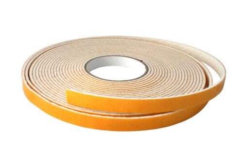 Filzstreifen weiss Filzband selbstklebend 1 m Breite 15 mm Filzgleiter Dämmfilz