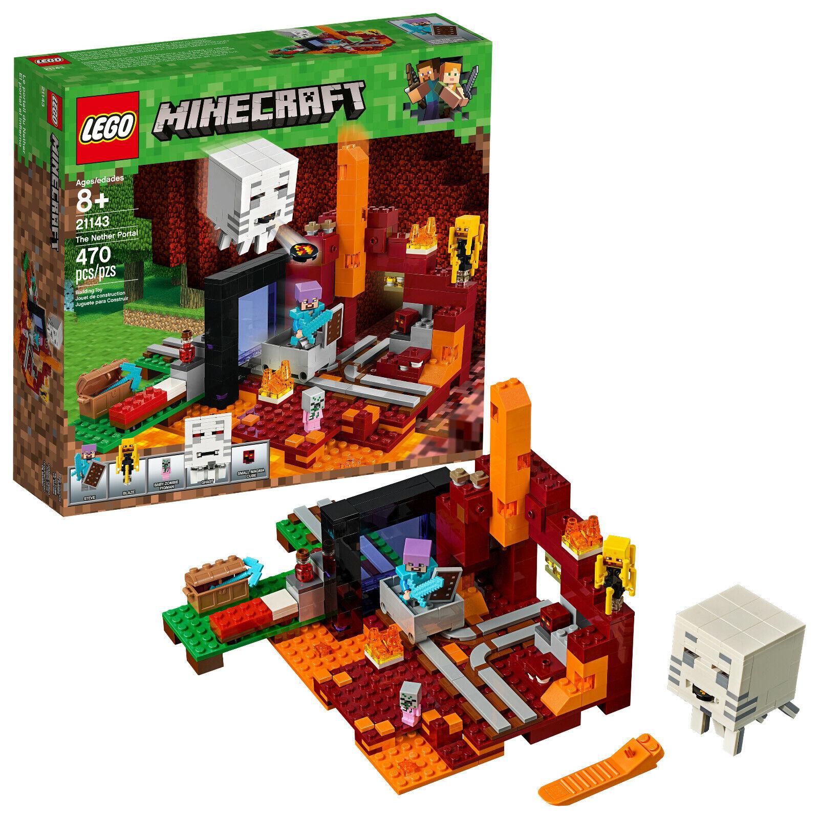 LEGO Minecraft Minecraft Minecraft The Nether Portal, 470 pieces (21143) 6284e9