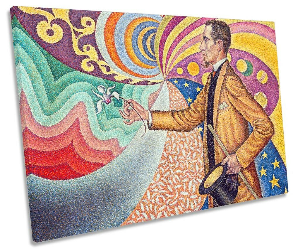 Paul Signac Portrait de Félix Fénéon Picture SINGLE CANVAS WALL ART Print