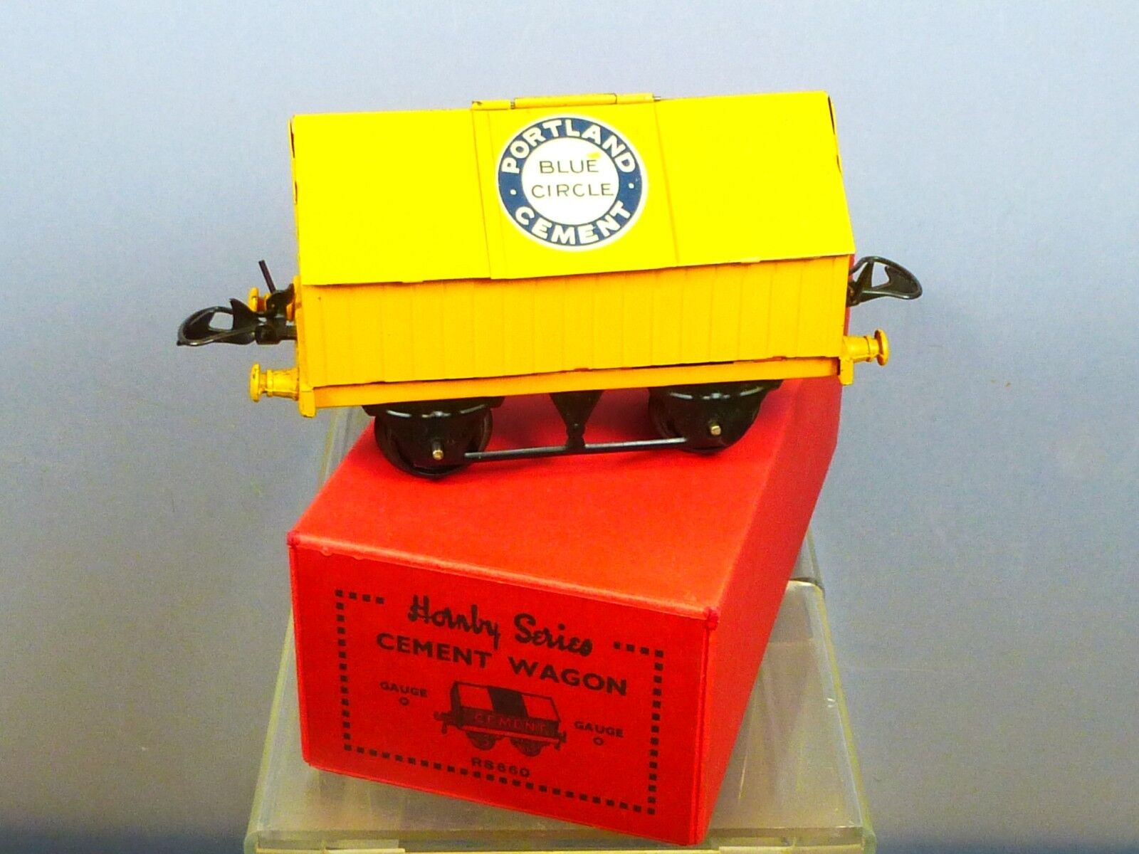 VINTAGE  O  HORNBY MODEL No.1    PORTLAND  blu CIRCLE   CEUomoT WAGON  BOXED