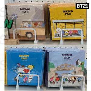 BTS BT21 Official Authentic Goods MEMO PAD 4TYPE 30 Sheet BY LINE FRIENDS