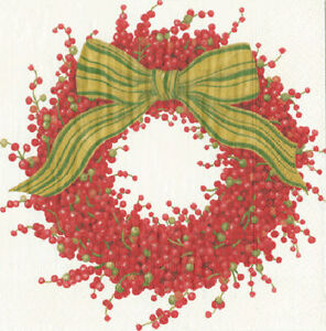 Berries-and-Bows-Wreath-Christmas-paper-Napkins-Dinner-size-40cm-3-ply-20-pack