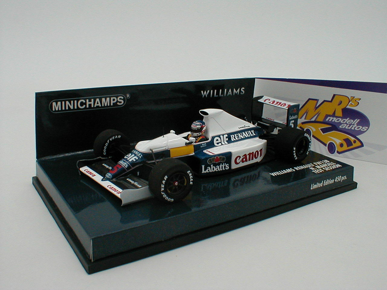 Minichamps 437910105 Williams Renault fw13b test session 1991 N. Mansell 1 43