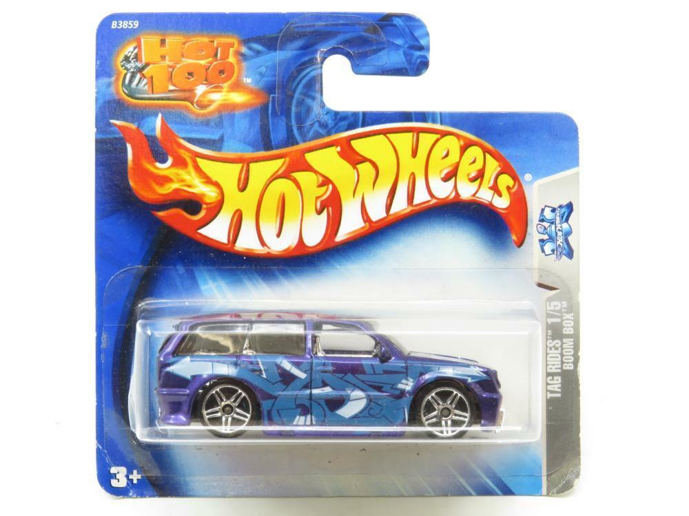 Hotwheels Tag Rides Boom Box Purple 1 5 B3859 Short Card 1 64 Scale Sealed