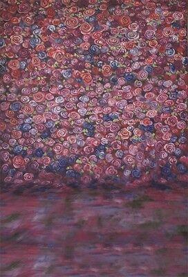 7x5ft Fondo de Pared de Flores Fondo de Fotograf/ía de Vinilo Tel/ón de Fondo Rosa Decoraci/ón de Boda Amantes Cumplea/ños Reci/én Nacidos Nupcial Flor Pared Fondo Foto Prop para Estudio Fotogr/áfico